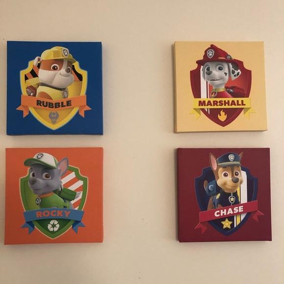 Paw Patrol Accents Set Of 4 Paw Patrol Room Decor Poshmark